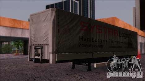 Krone SPD27 Systra Logistik для GTA San Andreas вид справа