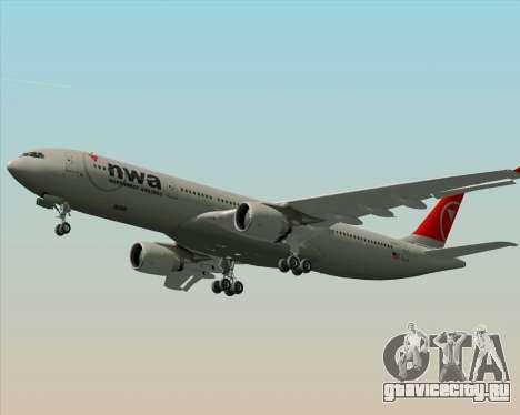 Airbus A330-300 Northwest Airlines для GTA San Andreas двигатель