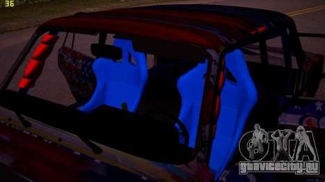 ВАЗ 2105 Drift для GTA San Andreas вид изнутри