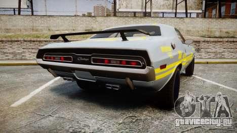 Dodge Challenger 1971 v2.2 PJ4 для GTA 4 вид сзади слева