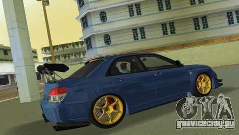 Subaru Impreza WRX STI 2006 Type 2 для GTA Vice City вид сзади
