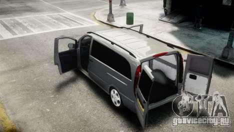 Mercedes-Benz Vito Sport-X для GTA 4 вид сзади слева