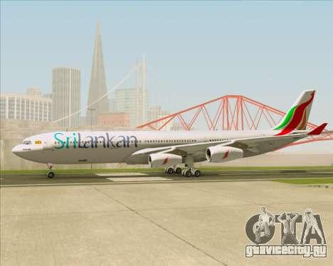 Airbus A340-313 SriLankan Airlines для GTA San Andreas вид изнутри