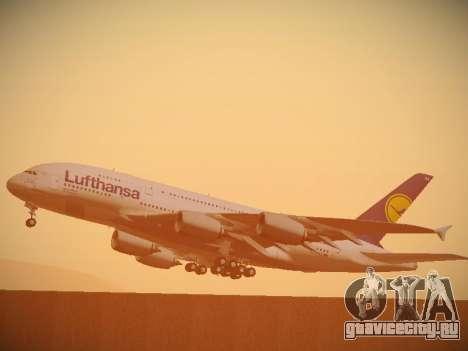 Airbus A380-800 Lufthansa для GTA San Andreas вид сверху