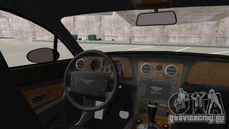 Bentley Continental GT Mansory для GTA San Andreas вид сзади слева