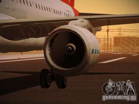 Airbus A320-214 TAM Oneworld для GTA San Andreas колёса