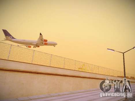 Airbus A340-300 Scandinavian Airlines для GTA San Andreas вид справа