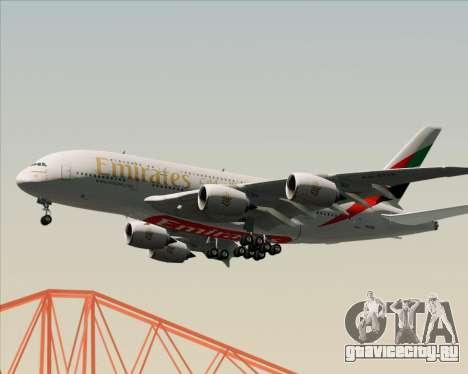 Airbus A380-841 Emirates для GTA San Andreas двигатель