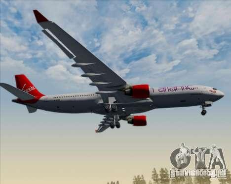 Airbus A330-300 Virgin Atlantic Airways для GTA San Andreas вид снизу