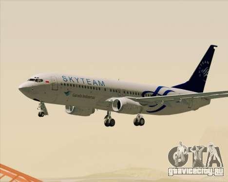 Boeing 737-86N Garuda Indonesia для GTA San Andreas салон