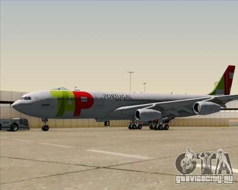 Airbus A340-312 TAP Portugal для GTA San Andreas вид сзади