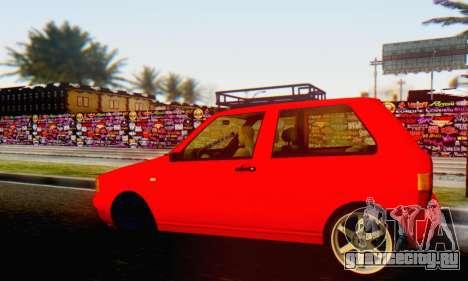 Fiat Uno для GTA San Andreas вид сзади слева