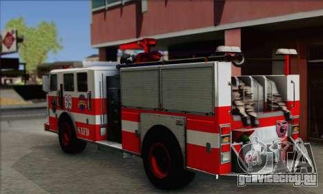 SAFD BRUTE Firetruck для GTA San Andreas вид слева