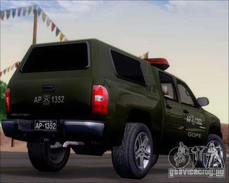 Chevrolet Silverado Gope для GTA San Andreas вид сверху