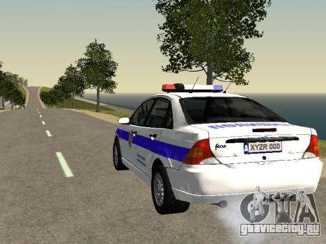 Ford Focus Полиция Нижегородской области для GTA San Andreas вид сзади слева