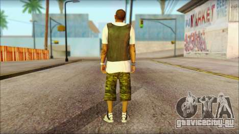 New Grove Street Family Skin v5 для GTA San Andreas второй скриншот