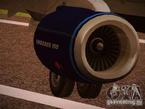 Embraer E190 Azul Tudo Azul для GTA San Andreas