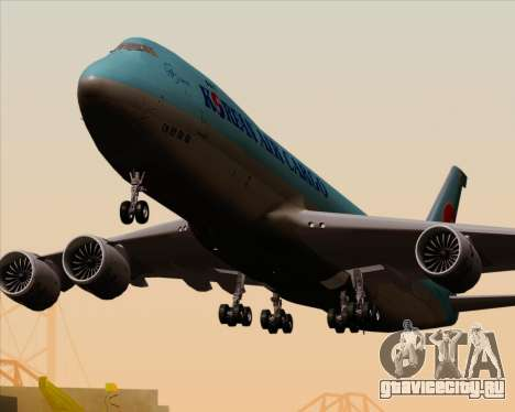 Boeing 747-8 Cargo Korean Air Cargo для GTA San Andreas колёса