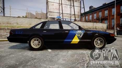 Vapid Police Cruiser LSPD Generation [ELS] для GTA 4 вид слева
