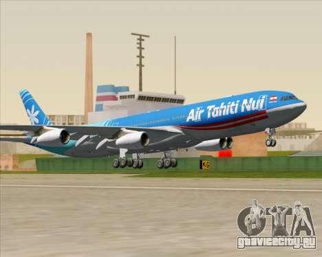 Airbus A340-313 Air Tahiti Nui для GTA San Andreas вид изнутри