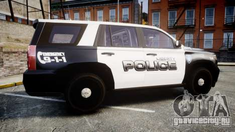 Chevrolet Tahoe 2015 Liberty Police [ELS] для GTA 4 вид слева