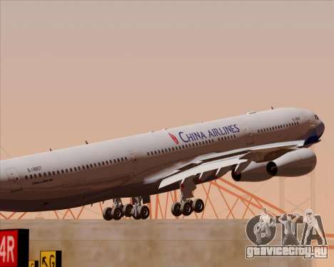 Airbus A340-313 China Airlines для GTA San Andreas двигатель