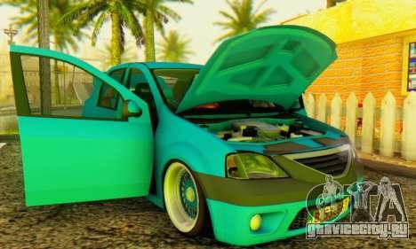 Dacia Logan Elegant для GTA San Andreas вид сзади