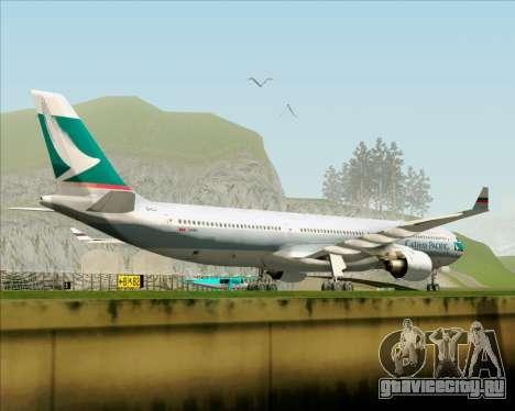 Airbus A330-300 Cathay Pacific для GTA San Andreas вид сбоку