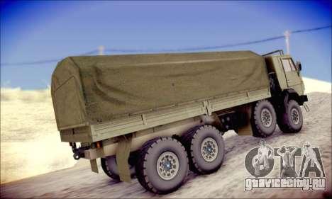 КамАЗ 6350 (АПП) для GTA San Andreas вид справа