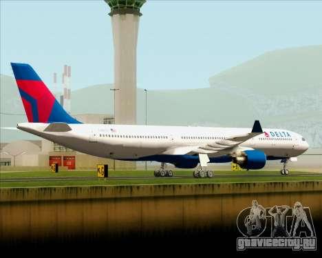 Airbus A330-300 Delta Airlines для GTA San Andreas вид сзади слева