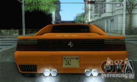 Cheetah Testarossa для GTA San Andreas вид сзади слева