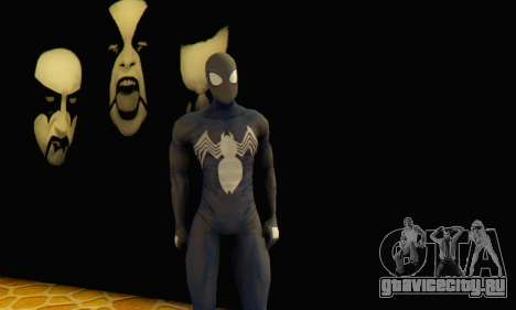 Skin The Amazing Spider Man 2 - DLC Black Suit для GTA San Andreas