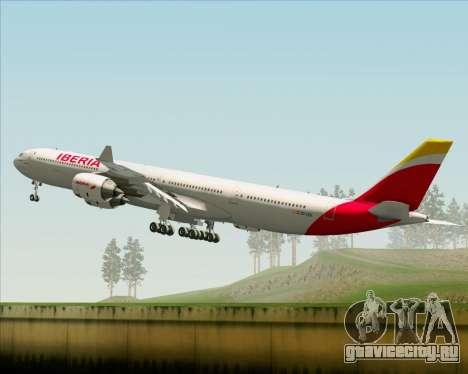 Airbus A340-642 Iberia Airlines для GTA San Andreas вид сверху