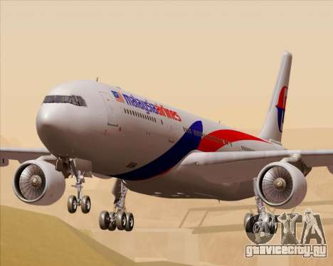 Airbus A330-323 Malaysia Airlines для GTA San Andreas
