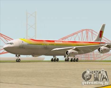 Airbus A340 -313 Iberia для GTA San Andreas вид слева