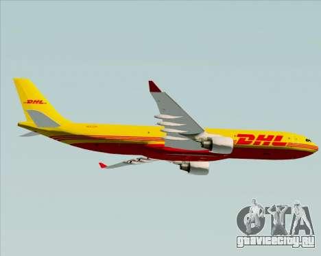 Airbus A330-300P2F DHL для GTA San Andreas вид сзади