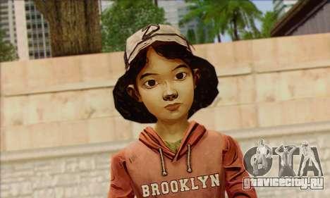 Klementine from Walking Dead для GTA San Andreas третий скриншот