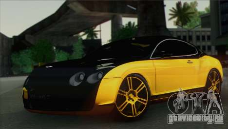 Bentley Continental GT Mansory для GTA San Andreas