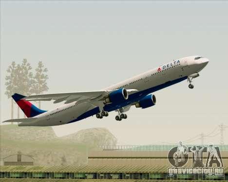 Airbus A330-300 Delta Airlines для GTA San Andreas вид снизу