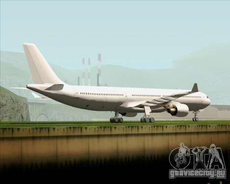 Airbus A330-300 Full White Livery для GTA San Andreas вид сзади слева