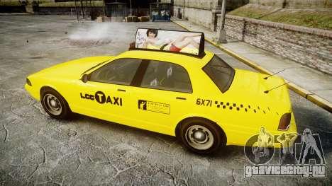 GTA V Vapid Taxi LCC для GTA 4 вид слева
