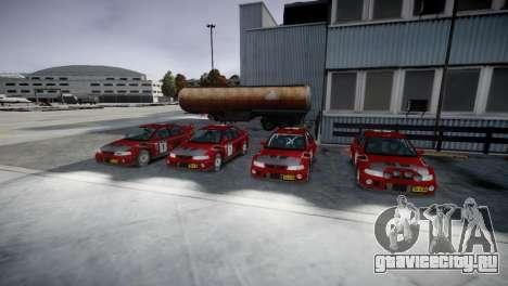 Mitsubishi Lancer Evolution VI Rally для GTA 4 вид сзади