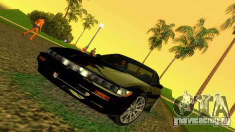 Nissan Silvia S13 RB26DETT Black Revel для GTA Vice City вид слева