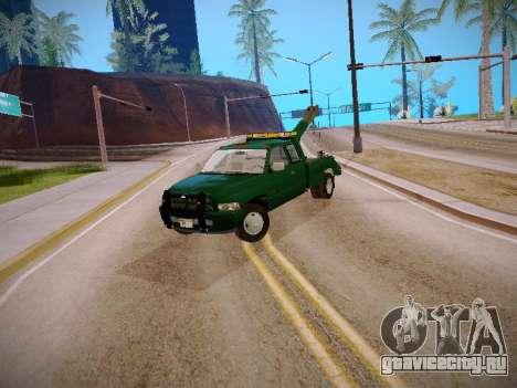 Dodge Ram Tow-Truck для GTA San Andreas вид слева