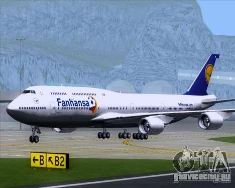 Boeing 747-830 Lufthansa - Fanhansa для GTA San Andreas вид изнутри