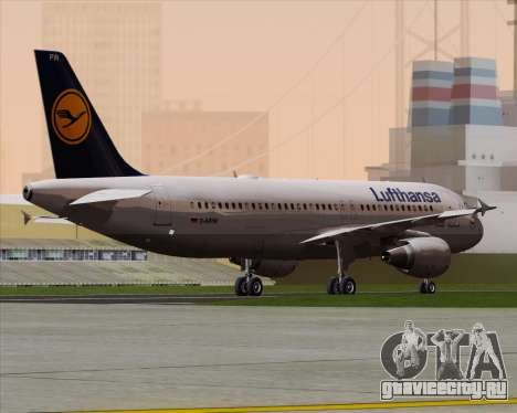 Airbus A320-211 Lufthansa для GTA San Andreas вид справа