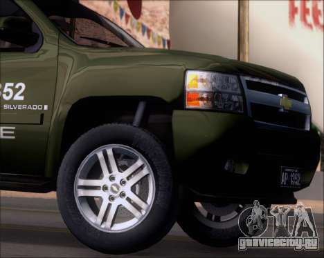 Chevrolet Silverado Gope для GTA San Andreas вид сбоку