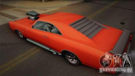 GTA 4 Dukes Tunable для GTA San Andreas вид сзади