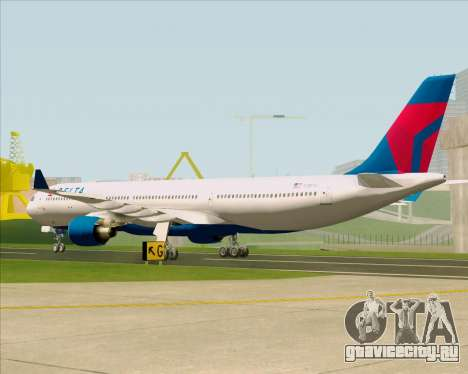 Airbus A330-300 Delta Airlines для GTA San Andreas вид справа