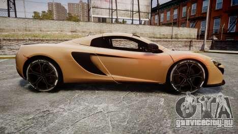 McLaren 650S Spider 2014 [EPM] Pirelli v2 для GTA 4 вид слева